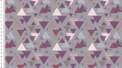 French Terry Brossé Girly Triangles 4470