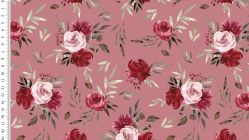 French Terry digital roses 4754